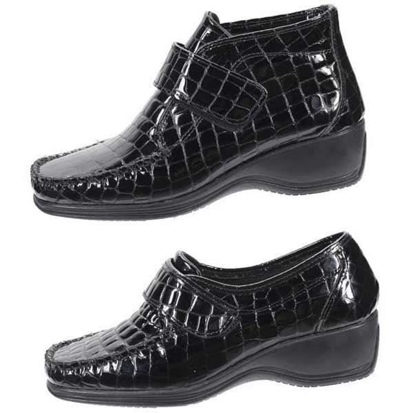 jurgen hirsch duo croco noir - bottines + ballerines