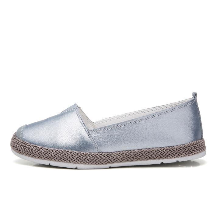 Chaussures Femmes Solid Color loisirs chaussures à la main Mocassins lomghuu 3935