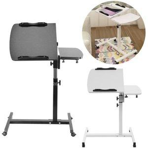 MEUBLE INFORMATIQUE Table pour Ordinateur à Roulettes Pliable Portable