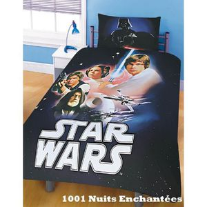 housse de couette star wars 1 personne achat vente. Black Bedroom Furniture Sets. Home Design Ideas