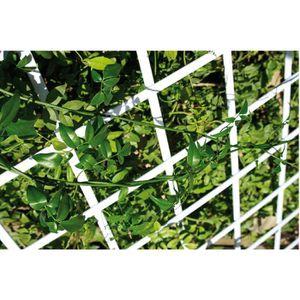 CLÔTURE - GRILLAGE Treillis PVC extensible Catral Blanc L.1,5m H.0,5m