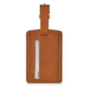 PORTE ADRESSE kalibri Étiquette cuir pour valise - Tag porte-éti