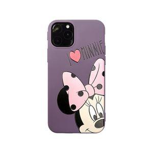 COQUE - BUMPER Coque iPhone 11,Disney Minnie Violet Antichoc Prem