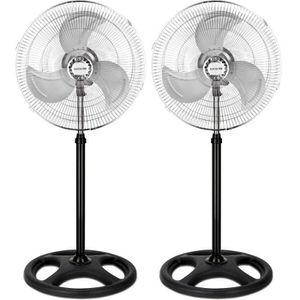 VENTILATEUR Pack de 2 Ventilateur sur pied - 45 cm de diamètre