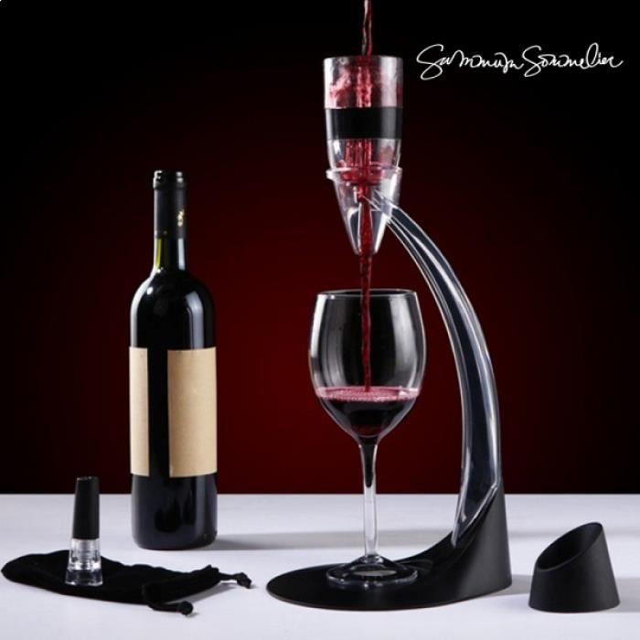 Aérateur de vin sur pied * Dimensions : 16,5 x 40 x 18,5 * Matière : verre, plastique Fonctions : aérateur vin Contenu : 1 aéra...