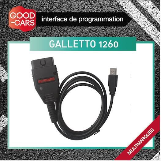 GALLETTO 1260 INTERFACE DIAGNOSTIC OBD REPROGRAMMATION MULTIMARQUES