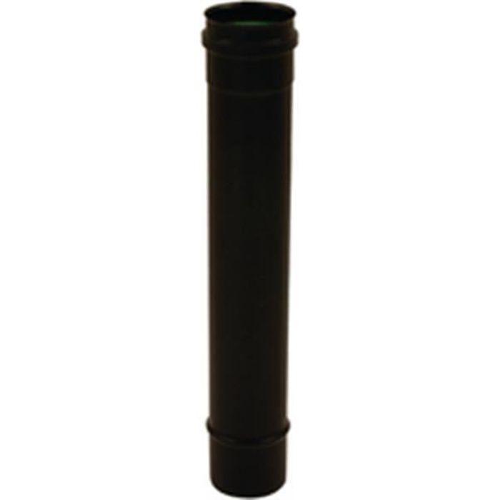 Isotip-joncoux Elément 1000mm noir mat avec joint silicone diamètre 80 Gamme APOLLO pellets concentrique Réf 891008