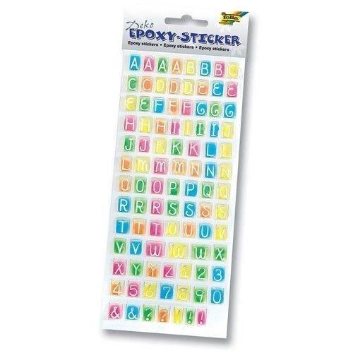 FOLIA Planche de Stickers Epoxy Lettres