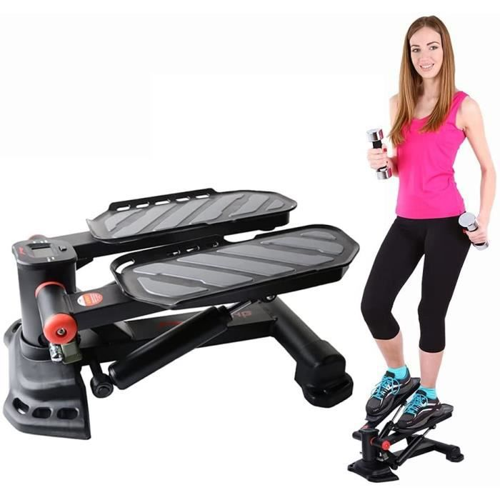 STEPPER Stepper Fitness Aerobic Mini Stepper Twister Stepper d'appartement avec &Eacute cran Multifonctions Cardio-Traini432