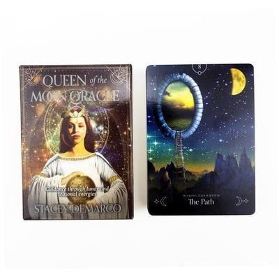 Jeu de carte,Tarot Oracle cartes guidage Divination destin carte complet anglais famille ami fête jeu - Type Queen of the Moon