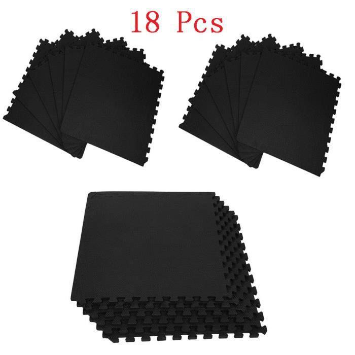 JEOBEST® 18 Dalles Tapis de Protection de Sol en Mousse - 60cm x 60cm