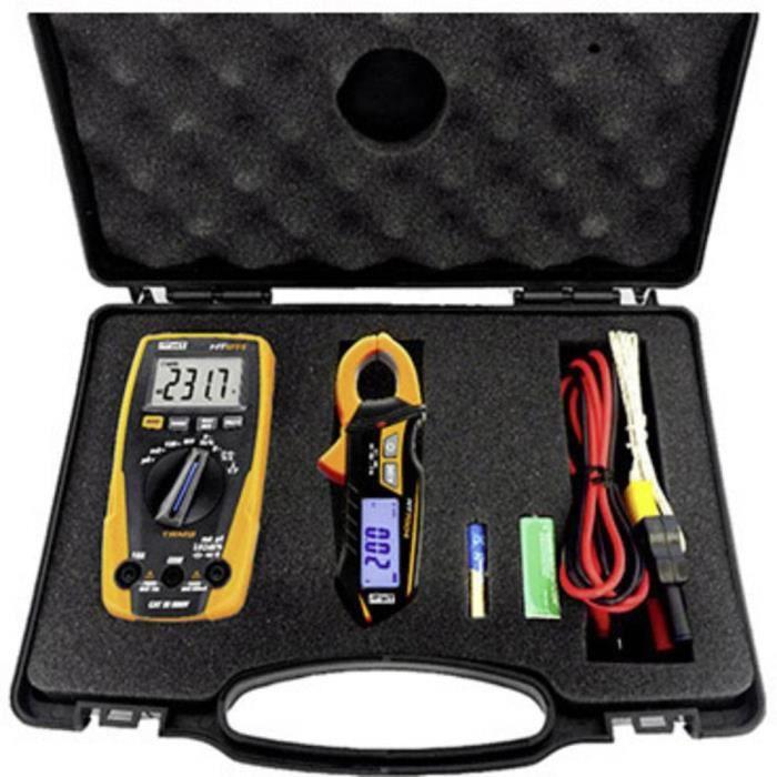 Multimètre , Pince ampèremétrique HT Instruments e-KIT e-KIT numérique CAT III 600 V Affichage (nombre de points): 4000