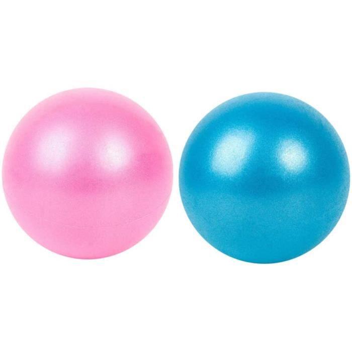SWISS BALL RTBLE 2 Pcs Ballon dexercice Pilates Fitness Balance Ball Theacuterapie Balle pour Yoga Formation Gym 25 Cm Couleur A251