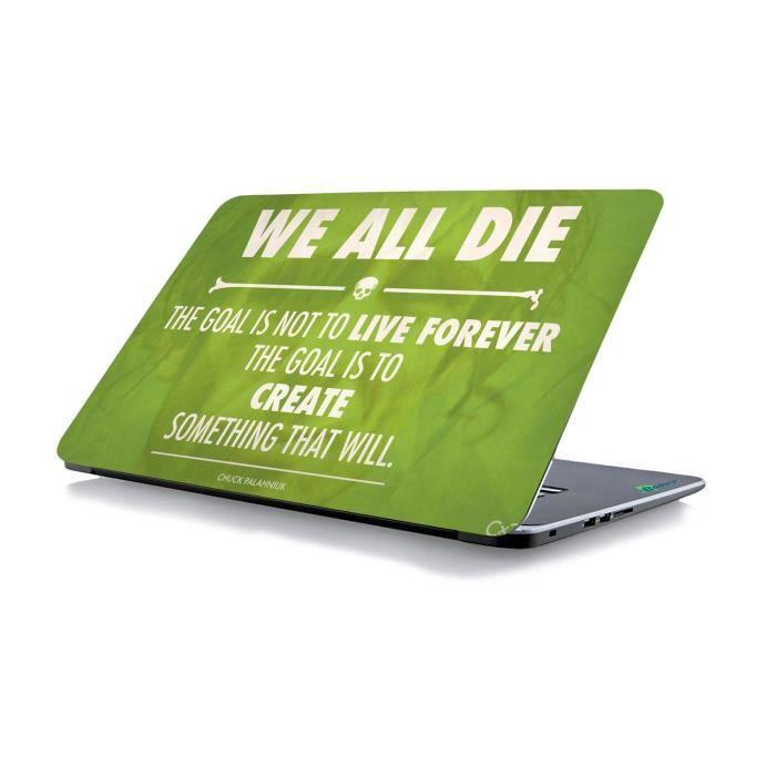 RADANYA We All Die Laptop Cover Autocollant Peau Convient À Tous Les Modèles pour La Taille De L'Écran Dimensions - 15 X 10 Pouce