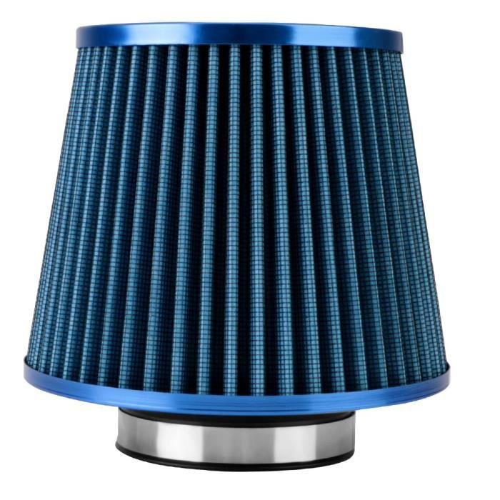 Bleu -3 pouces filtres à Air de voiture universel haut débit filtre d'admission d'air froid Sport puissance maille cône accessoires