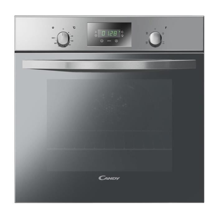 CANDY FST249 / 6X - Four électrique encastrable à convection naturelle - 65L - Catalyse - A - Inox