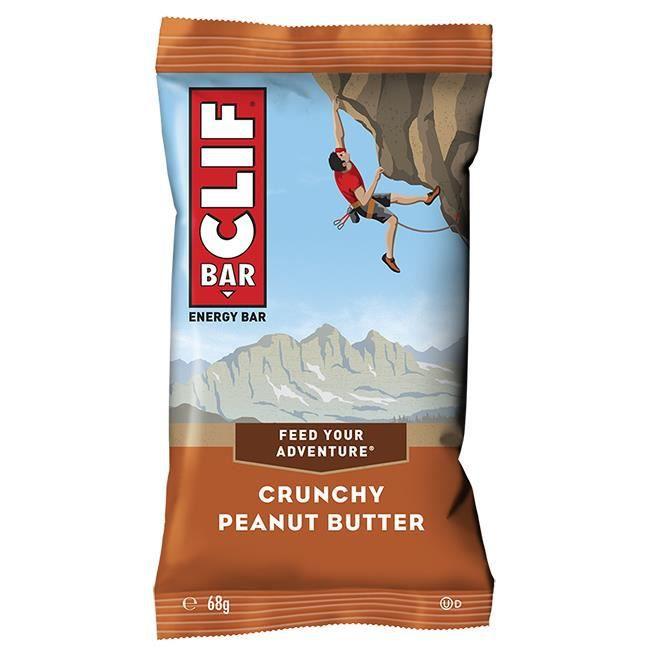 CLIF Bar Crunchy Peanut Butter, Cacahuète, 68 g, Avoine, Vitamine A, Vitamine B1, Vitamine B12, Vitamine B2, Vitamine B3