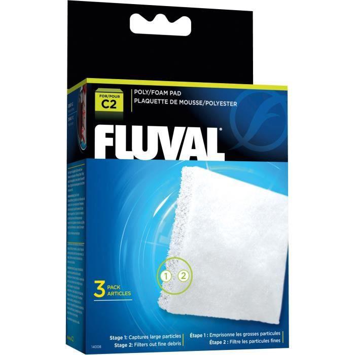 FLUVAL Plaquette mousse/polyester C2,3unité - Pour poisson