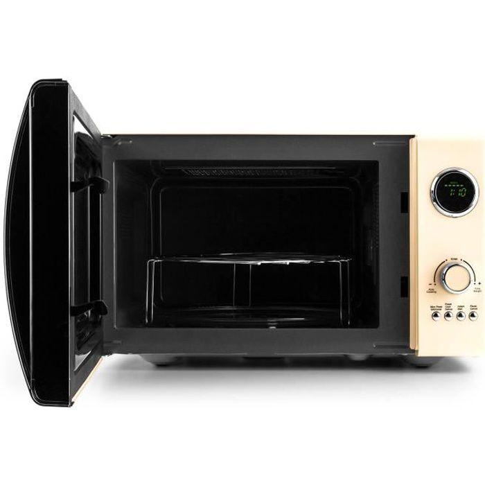 Klarstein Fine Dinesty - Four micro-onde avec fonction grill, 23L de capacité et 12 programmes (800W en micro-ondes, 1000W en gri...