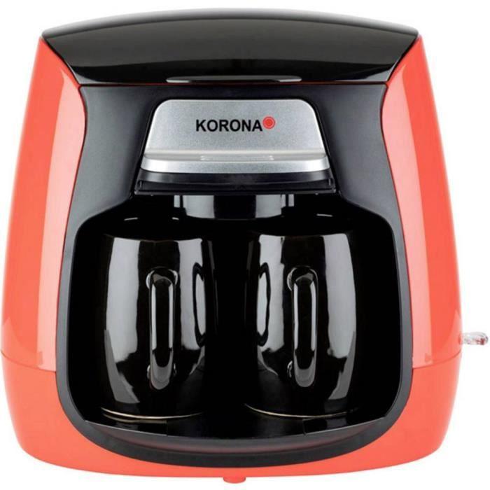 Cafetière Korona 12208 12208 Nombre de tasse: 2 rouge, noir 1 pc(s)