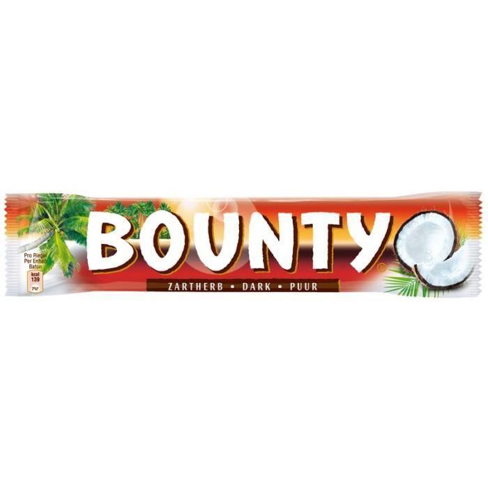 Bounty chocolat noir, barres, chocolat, 24 Bars