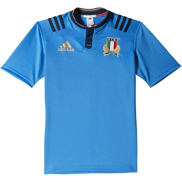 Adidas Maillot Rugby Italie Domicile Bleu Homme