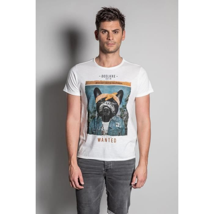 DEELUXE T-shirt photo bulldog BANDIDO Natural