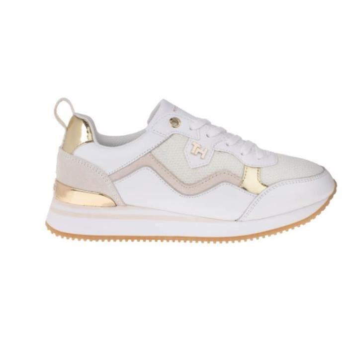 TOMMY HILFIGER FW0FW05010 chaussures de tennis faible Femme BLANC