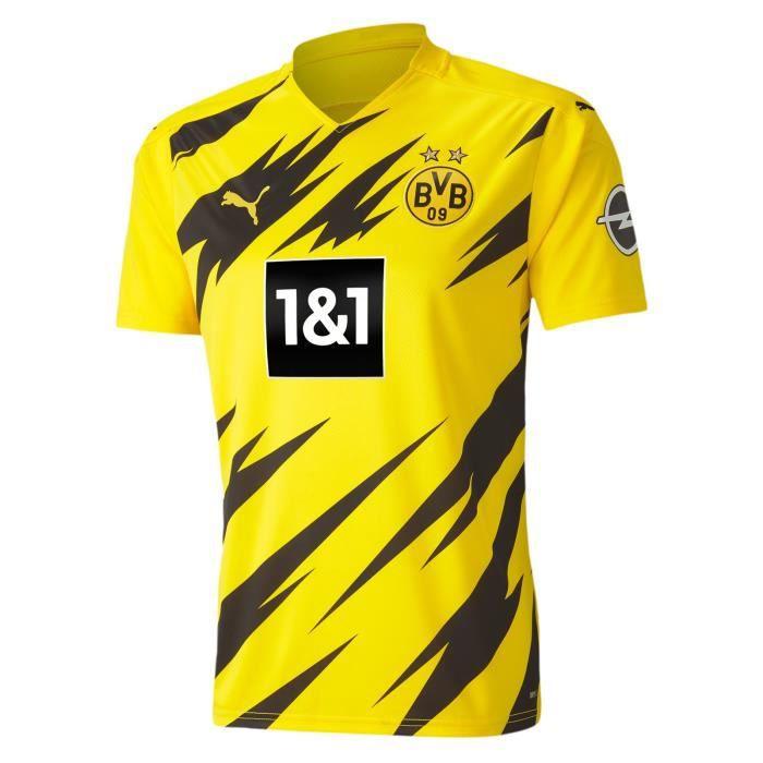 Maillot Borussia Dortmund - 2020-2021 BVB Maillot de Football Home Jersey - Jaune