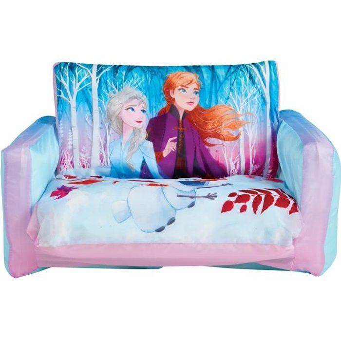 Canapé convertible -canapé-lit gonflable pour enfants Reine des Neiges - L.105 x P.68 x .H26 cm