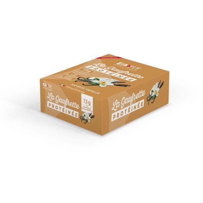 EAFIT La gaufrette protéinée Vanille - Présentoir x12 gaufrettes 40 g