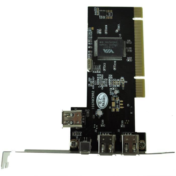 Carte Pci Firewire 3+1 Ports Ieee 1394 4 6 Pin Pr Dv Dc