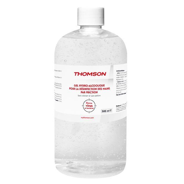 Recharge 500ml de gel hydroalcoolique désinfectant THOMSON - Avec bouchon à vis, sans pompe ni bec verseur