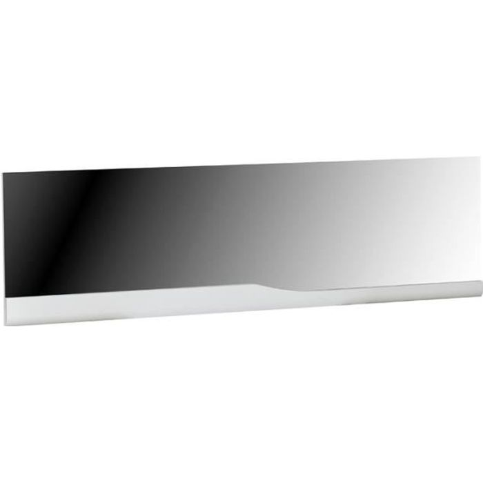 Miroir rectangulaire Blanc laqué brillant - PESMES - L 180 x l 5 x H 53