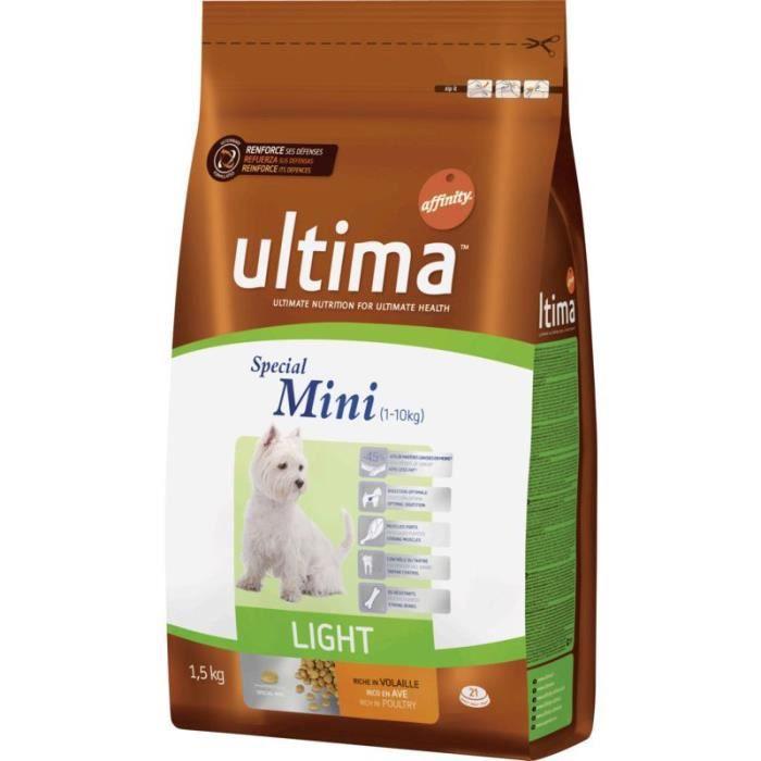 ULTIMA Croquettes light - Pour chien - 1,5KG