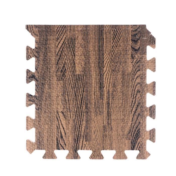 30cm carré tapis de yoga en mousse EVA étage tapis de verrouillage tapis de sol tapis d'exercice Yoga Fitness Gym (grain de bois