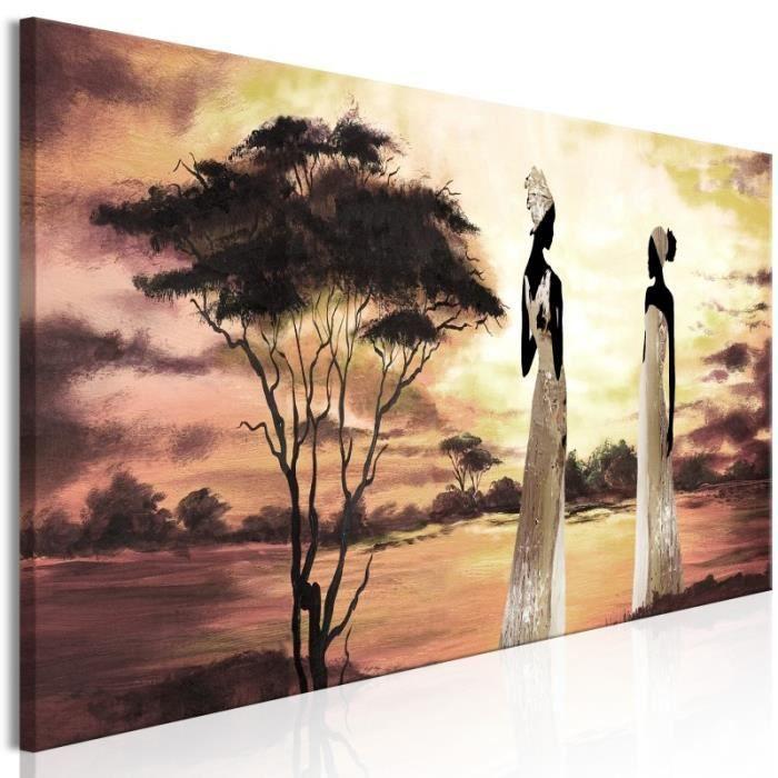 Tableau African Goddesses 1 Part Narrow Size 150x50 Artgeist Tableau Africain Et Ethnique Achat Vente Tableau Toile Cdiscount
