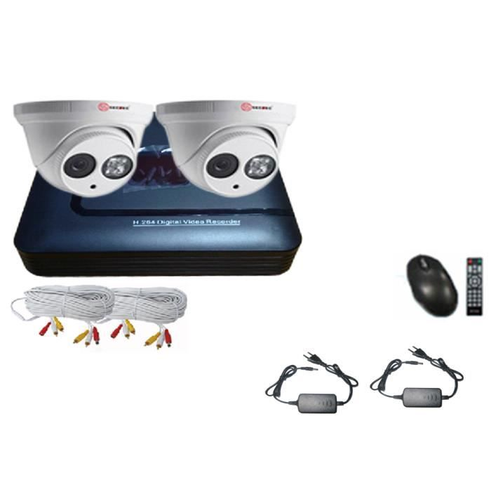 kit video surveillance achat vente cam ra de surveillance cdiscount. Black Bedroom Furniture Sets. Home Design Ideas