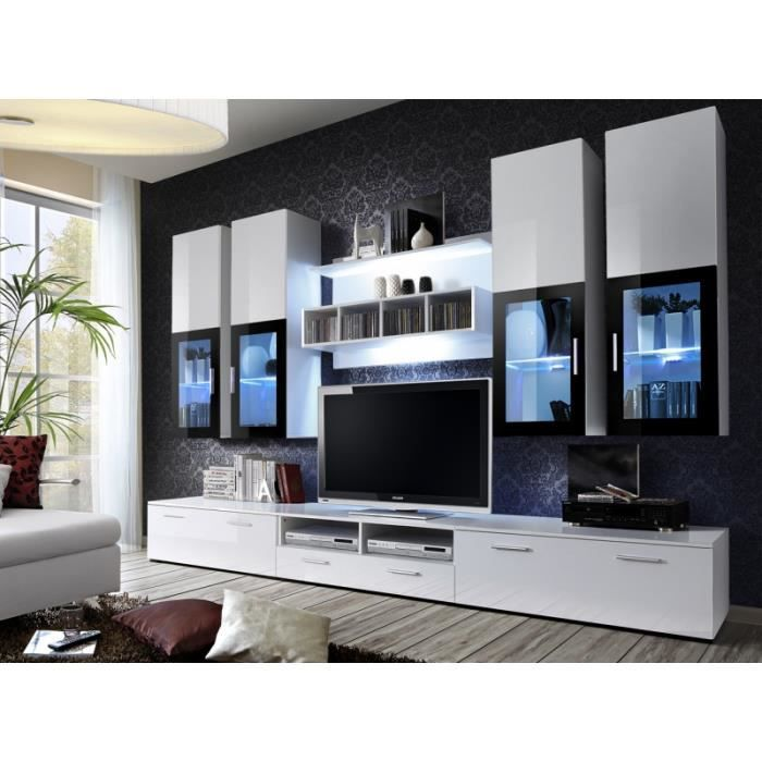meuble de salon beta meuble de tv complet design led achat vente meuble tv meuble de. Black Bedroom Furniture Sets. Home Design Ideas
