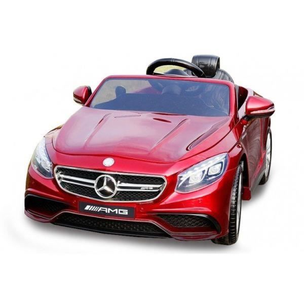 voiture lectrique 12v mercedes s63 amg rouge achat vente voiture enfant cdiscount. Black Bedroom Furniture Sets. Home Design Ideas