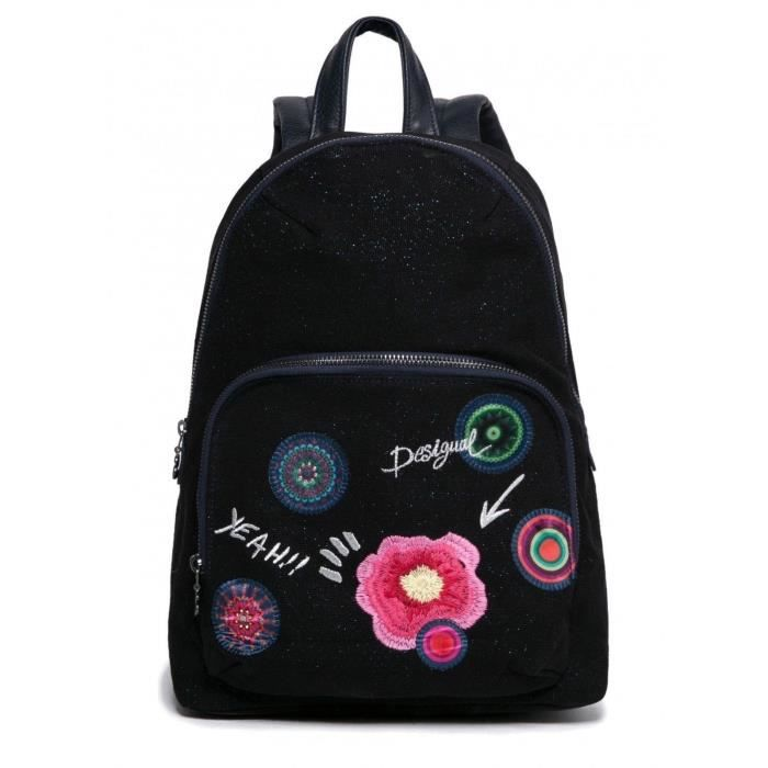 desigual sac dos scolaire femme fille lima yeah noir noir achat vente sac dos. Black Bedroom Furniture Sets. Home Design Ideas