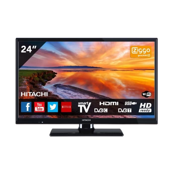 hitachi t l viseur 24 pouces 61 cm smart tv televiseurspaschers. Black Bedroom Furniture Sets. Home Design Ideas