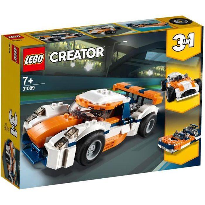 ASSEMBLAGE CONSTRUCTION LEGO® Creator 3-en-1 31089 - La Voiture de Course