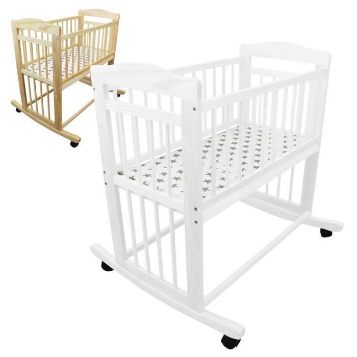 BERCEAU ET SUPPORT Berceau bébé 40 x 80 cm - Mode bascule ou roulette