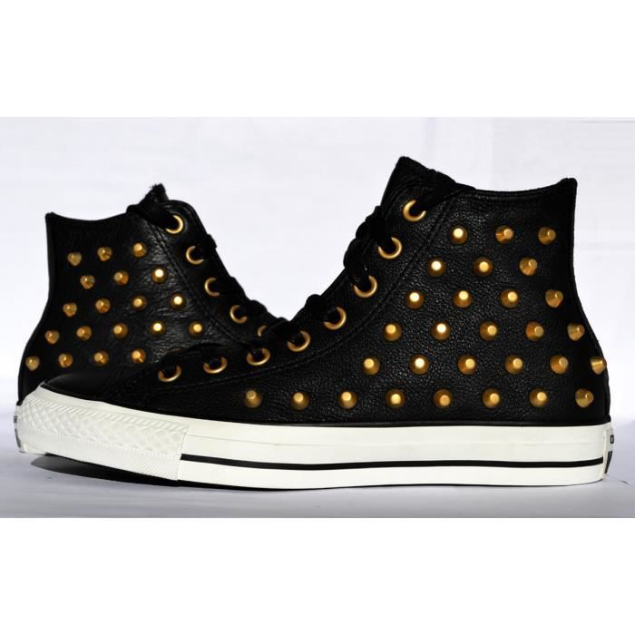 cf93976a34a CONVERSE ALL STAR EXCLUSIVE NOIR   OR CUIR PRENIUM STUDS CLOU Noir ...