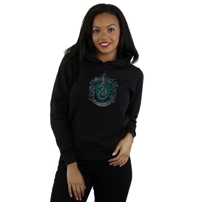 VÉLO ENFANT Women's Slytherin Distressed Crest Hoodie 3OAP6J T