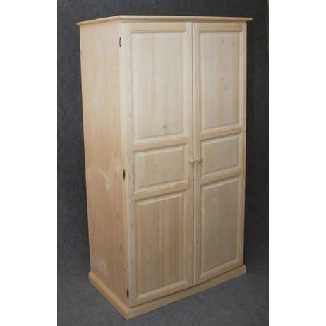 armoire en bois brut achat vente armoire de chambre. Black Bedroom Furniture Sets. Home Design Ideas