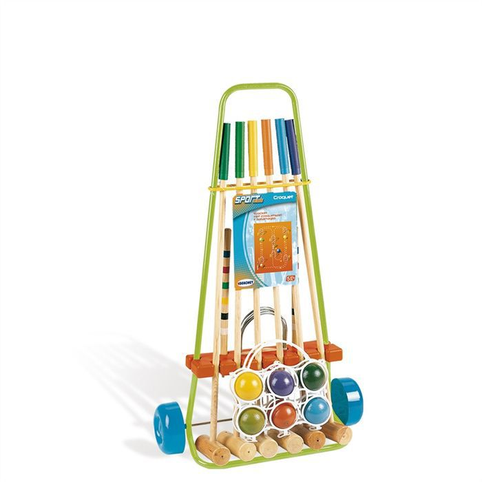 smoby jeu de croquet enfant pour 6 joueurs achat vente. Black Bedroom Furniture Sets. Home Design Ideas