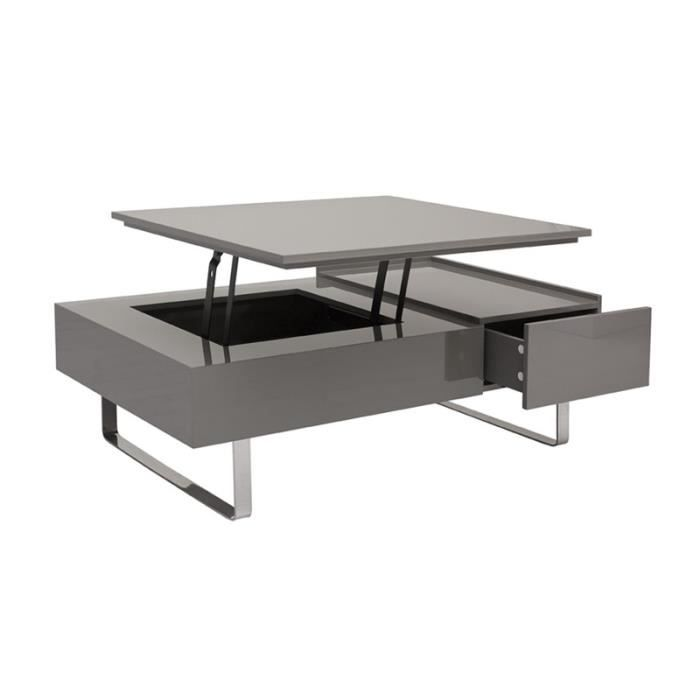 Table basse relevable avec rallonge maison design for Table basse scandinave plateau relevable