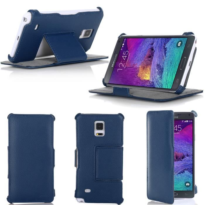 Etui housse samsung galaxy note 4 bleue coque achat for Housse samsung note 4
